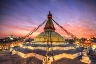 NP02421 Nepal, Kathmandu, Bodhnath (Boudha) Stupa