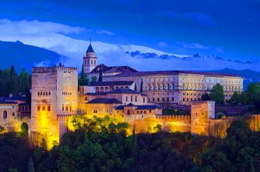 ES05874 Spain, Andalucia, Granada Province, Granada, Alhambra