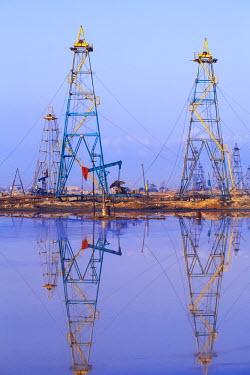 AZ01162 Azerbaijan, Abseron Peninsula, Oil Fields
