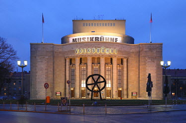 GER7778 The Volksbuhne is a theater in Berlin, Germany. Located in Berlin's city center Mitte on Rosa-Luxemburg-Platz in what was the GDR's capital.