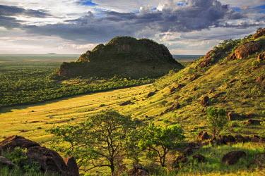 KEN8035 Kenya, Kajiado County; Maasai Wilderness Conservancy. A general view of the Maasai Wilderness Conservancy.