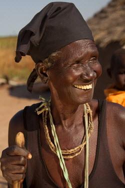 SSU0014AW Northern Bahr el Ghazal, South Sudan. Village elder.