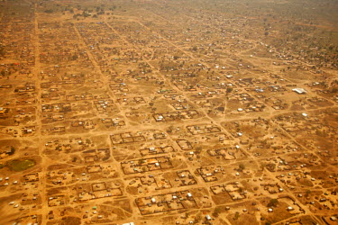 SSU0020AW Leer, Unity State, South Sudan. Aerial view of the city.