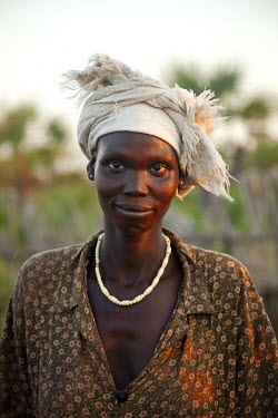 SSU0036AW Unity State, South Sudan. A lady farmer.