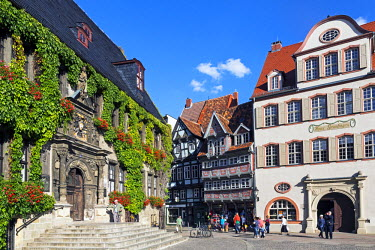 DE06858 Market Square, Quedlinburg, UNESCO World Heritage Site, Harz, Saxony-Anhalt, Germany
