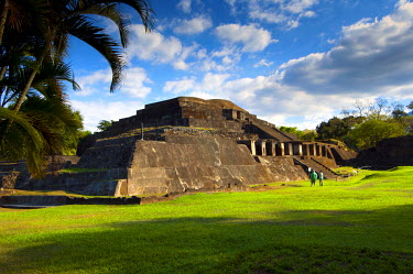 EL01081 Tazumal Mayan Ruins, Located In Chalchuapa, El Salvador, Main Pyramid, Pre-Colombian Archeological Site, Most Important And Best Preserved Mayan Ruins In El Salvador, Tazumal Translates To 'The Place...