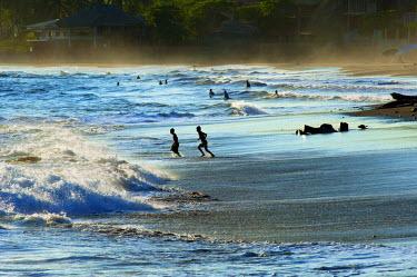 EL01106 Playa El Tunco, El Salvador, Pacific Ocean Beach, Popular With Surfers, Great Waves, Named After The Rock Formation