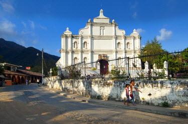 EL01115 Panchimalco, El Salvador, Iglesia Santa Cruz De Roma, Holy Cross Of Rome, Oldest Surviving Colonial Structure In El Salvador, 18th Century, Village Known For Its Indigenous People, Department Of San S...