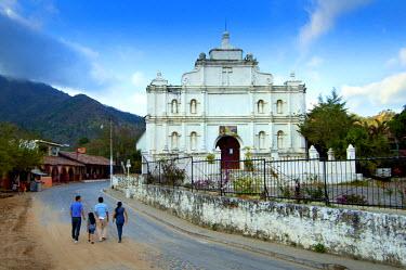 EL01116 Panchimalco, El Salvador, Iglesia Santa Cruz De Roma, ' Holy Cross Of Rome', Oldest Surviving Colonial Structure In El Salvador, 18th Century,Village Known For Its Indigenous People, Department Of San...