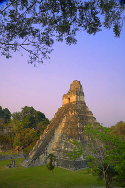 GUA1118AW Maya Archaeologial Site Tikal, Tikal National Park, Peten, Mundo Maya, Guatemala, Central America