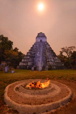 GUA1123AW Maya Archaeologial Site Tikal, Tikal National Park, Peten, Mundo Maya, Guatemala, Central America