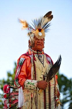 USA8669AW Lakota Indian in the Black Hills, Western South Dakota, USA. MR