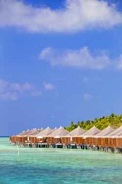 MIV0099AW Maldives, Rasdhoo Atoll, Kuramathi Island. Deluxe Water Villas at Kuramathi Island Resort.