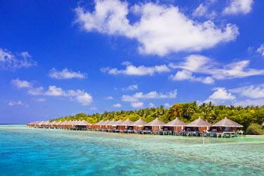 MIV0100AW Maldives, Rasdhoo Atoll, Kuramathi Island. Deluxe Water Villas at Kuramathi Island Resort.