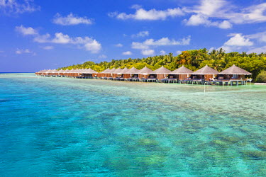 MIV0101AW Maldives, Rasdhoo Atoll, Kuramathi Island. Deluxe Water Villas at Kuramathi Island Resort.