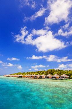 MIV0102AW Maldives, Rasdhoo Atoll, Kuramathi Island. Deluxe Water Villas at Kuramathi Island Resort.