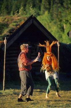 HMS0381781 Norway, Oppland County, Vinstra region, Gola lake, outdoor representation of Ibsen's Peer Gynt
