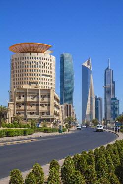 KW01111 Kuwait, Kuwait City, City center buildings