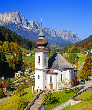 DE06936 Maria Gern church and Untersberg, Berchtesgadener Land, Bavaria, Germany, Europe