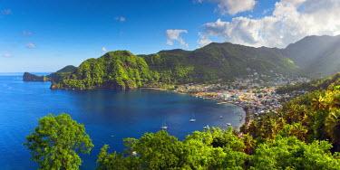 ST01105 Caribbean, St Lucia, Soufriere, Soufriere Bay