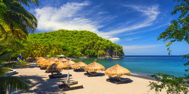 ST01112 Caribbean, St Lucia, Soufriere, Anse Chastanet, Anse Chastanet Beach