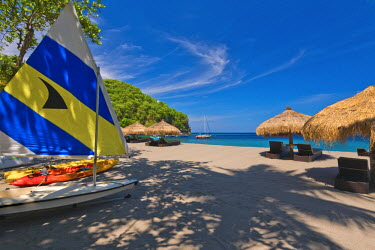 ST01113 Caribbean, St Lucia, Soufriere, Anse Chastanet, Anse Chastanet Beach