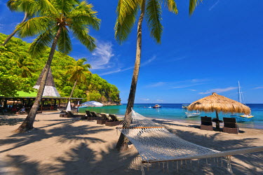 ST01115 Caribbean, St Lucia, Soufriere, Anse Chastanet, Anse Chastanet Beach