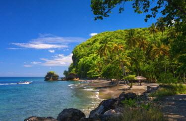 ST01117 Caribbean, St Lucia, Soufriere, Anse Mamin, Anse Mamin Beach
