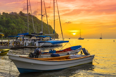 ST01120 Caribbean, St Lucia, Marigot, Marigot Bay