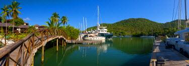 ST01119 Caribbean, St Lucia, Marigot, Marigot Bay, Marina