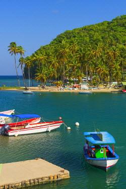 ST01124 Caribbean, St Lucia, Marigot, Marigot Bay