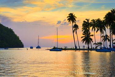 ST01126 Caribbean, St Lucia, Marigot, Marigot Bay