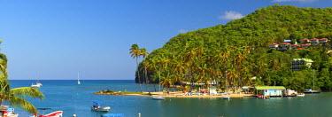 ST01125 Caribbean, St Lucia, Marigot, Marigot Bay