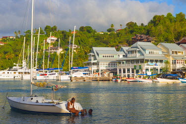ST01127 Caribbean, St Lucia, Marigot, Marigot Bay
