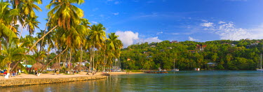 ST01128 Caribbean, St Lucia, Marigot, Marigot Bay