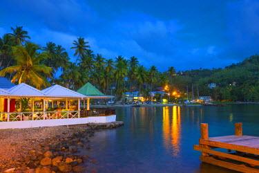 ST01129 Caribbean, St Lucia, Marigot, Marigot Bay, Marigot Bay Beach Club Hotel, Doolittle's Restaurant