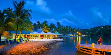 ST01130 Caribbean, St Lucia, Marigot, Marigot Bay, Marigot Bay Beach Club Hotel, Doolittle's Restaurant