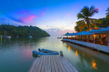 ST01132 Caribbean, St Lucia, Marigot, Marigot Bay, Marigot Bay Beach Club Hotel, Doolittle's Restaurant