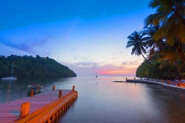 ST01133 Caribbean, St Lucia, Marigot, Marigot Bay, Marigot Bay Beach Club Hotel