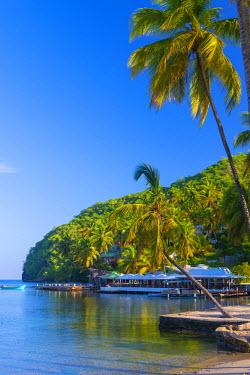 ST01134 Caribbean, St Lucia, Marigot, Marigot Bay, Marigot Bay Beach Club Hotel, Doolittle's Restaurant