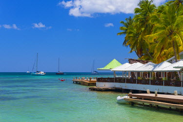 ST01135 Caribbean, St Lucia, Marigot, Marigot Bay, Marigot Bay Beach Club Hotel, Doolittle's Restaurant