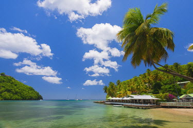 ST01136 Caribbean, St Lucia, Marigot, Marigot Bay, Marigot Bay Beach Club Hotel, Doolittle's Restaurant