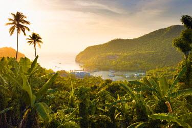 ST01138 Caribbean, St Lucia, Marigot, Marigot Bay