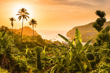 ST01139 Caribbean, St Lucia, Marigot, Marigot Bay