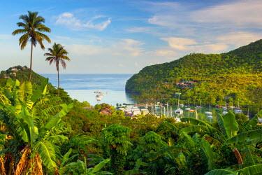 ST01143 Caribbean, St Lucia, Marigot, Marigot Bay