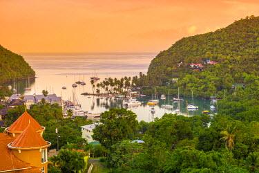ST01144 Caribbean, St Lucia, Marigot, Marigot Bay