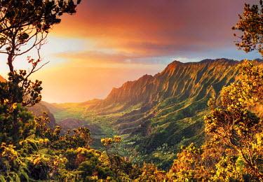 US07084 USA, Hawaii, Kauai, Kokee State Park, Kalalau Valley