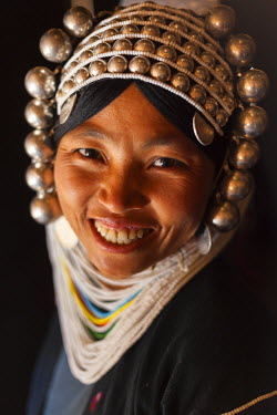 BM01331 Akha woman, hill-tribe, nr Kyaing Tong, Golden Triangle, Myanmar (Burma)