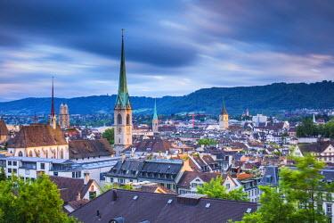 CH03558 City skyline, Zurich, Switzerland
