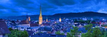 CH03653 City skyline, Zurich, Switzerland